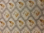 BAMBI AND THUMPER SILVER - deer and rabbit material - Fabric - Price Per Metre